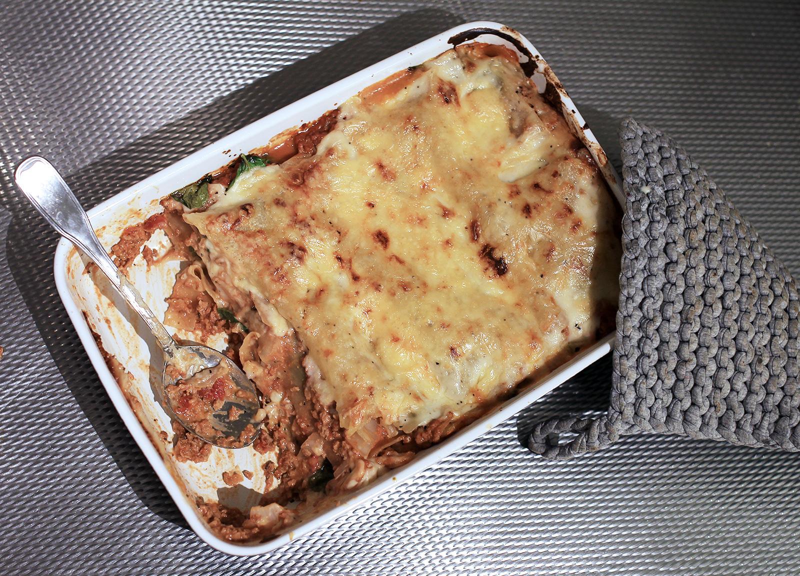 vegetarisk lasagne med bechamelsås